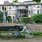 morning bike tour at Lucca wall
