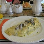 My main staple - Giant omelette (after a bowl of porridge!)