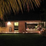 Bungalow at night