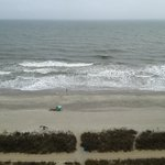 View of the beach from our room