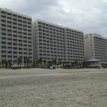  View of tower 1-2-3 from the beach