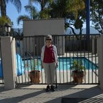  mom in front of pool for scale