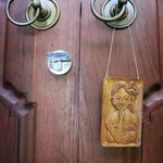 Hand carved 'do not disturb' sign