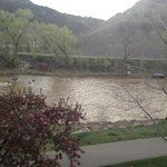 View of the Animas from the balcony.