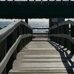 The walkway to the beach at the hotel