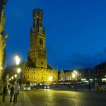 Markt - and the Belfry - at night