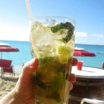 mojito royale at Rainbow Cafe, Grand Case