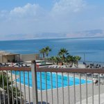 view across the dead sea from our hotel toward Israel