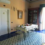  The dining area, with the door to the Blue Room at left.