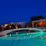  the top pool at night