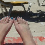 My feet loving the beach