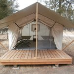 Tent cabins for rent in the RV park