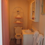  Bathroom is clean and has full tub and shower.