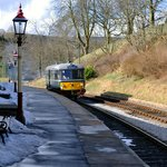 Railbus departing Oxenhope