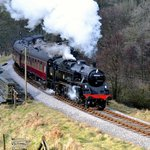 BR Standard Class 4MT Steam Loco No 80002 on Mytholmes Viaduct