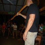  Aussie BBQ night... Hostel owner providing entertainment! :)