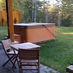 Hot tub in back yard