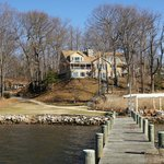  View of the Inn from the pier on the South River.