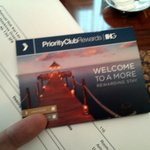 Priority Club Member Welcome
