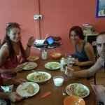 A wonderful meal at the hostel