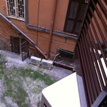 View from the room - courtyard described in review