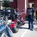 Bike fest Motorcycle parking lot - Hampton Inn Tavares