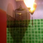  The birdcage in the bathroom