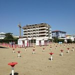  l hotel Savoy dalla spiaggia