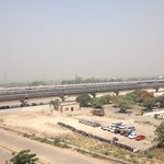 View of Delhi Noida Metro from the hotel