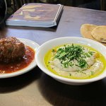 the meatball and the tahini hummus