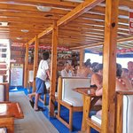 the bar on the boat