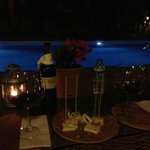  Wine and cheese by the pool