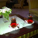 Our welcome Turkish tea