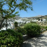View of the beautiful village Lefkes