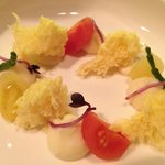 Amuse-bouche with brie