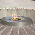  The eternal flame of the Genocide Monument