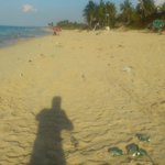 This is a small picture of the litter that was left on the beach at Atlantico. ! Zoom in and you