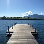 View from the jetty in the swimming area
