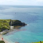 lulworth cove on a beautiful sunny day