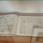  One of his hand written scored manuscripts