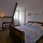 "Les Petites Charmilles, Room 2; romantic French ""lit bâteau"" with new comfortable mattress."