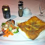 chicken pie and Windhoek beer - fantastic food