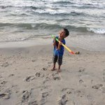  My son..who really enjoyed the sand and the beach.
