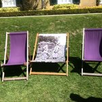Cool Deckchairs on the lawn!