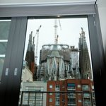 View from our room of sagrada Familia Cathedral