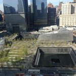 View of 9/11 memorial from my room