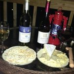  Wine and cheese night on our balcony