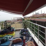  The roof terrace (a.k.a. 16 bed dorm).