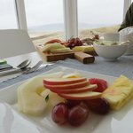 Outstanding Irish breakfast with fresh fruit