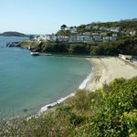  A view of Looe Beach from the walking route